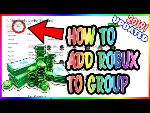 HOW TO ADD FUNDS TO YOUR ROBLOX GROUP *UPDATED FOR 2019* Add
