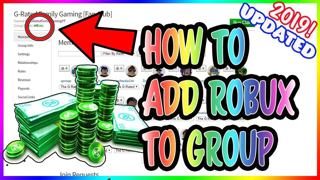 HOW TO ADD FUNDS TO YOUR ROBLOX GROUP *UPDATED FOR 2019 ...