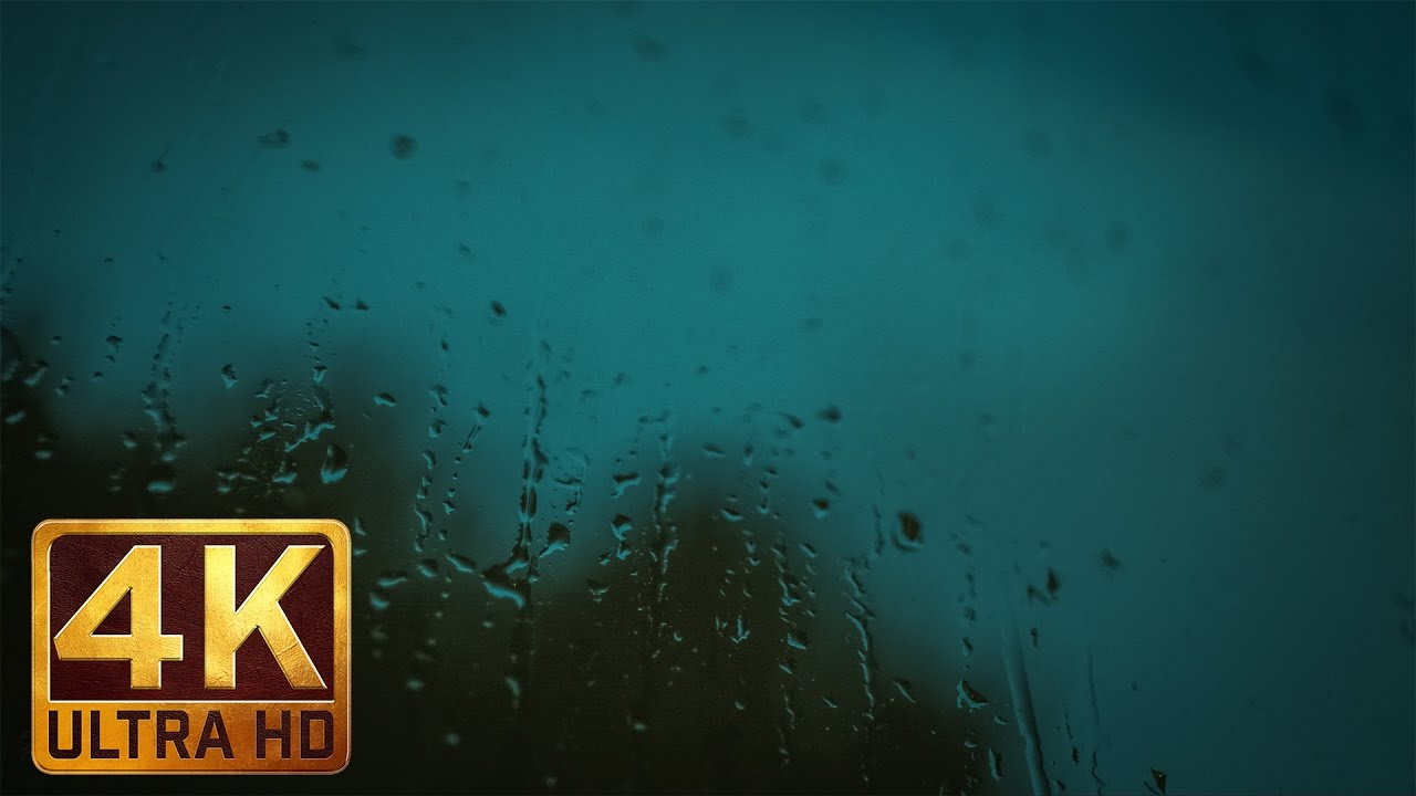 3 Hours of Relaxing Sounds of Rain Falling and 4K Image of