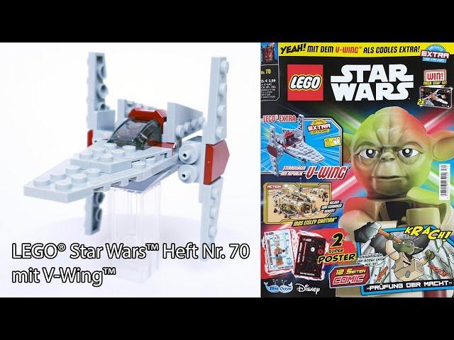 LEGO® Star Wars™ Heft Nr. 70 mit V-Wing™ im Foilpack & Ninjago® Karten Booster