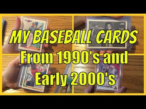 My Rookie Baseball Card Collection - 1990's Early 2000's