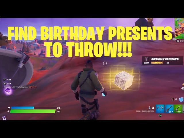 How to Find Birthday Presents in Fortnite (How to Throw Birthday Presents) - Season 8 Quest