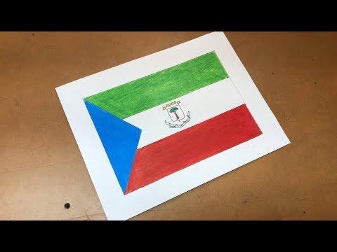 Equatorial Guinean Flag Drawing 🇬🇶