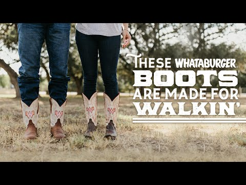 These Boots are Made for Walkin':  The New Whataburger Justin Boots