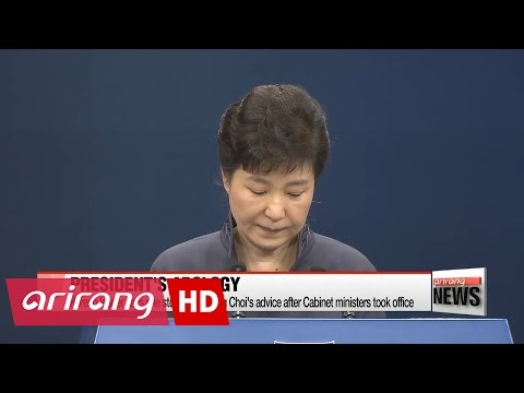 President Park apologizes for sharing documents with aide