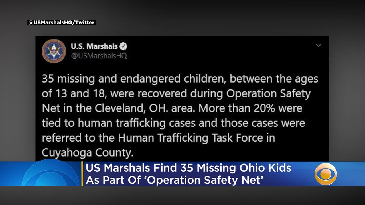 US Marshals Find 35 Missing Ohio Children As Part Of 'Operation Safety Net'