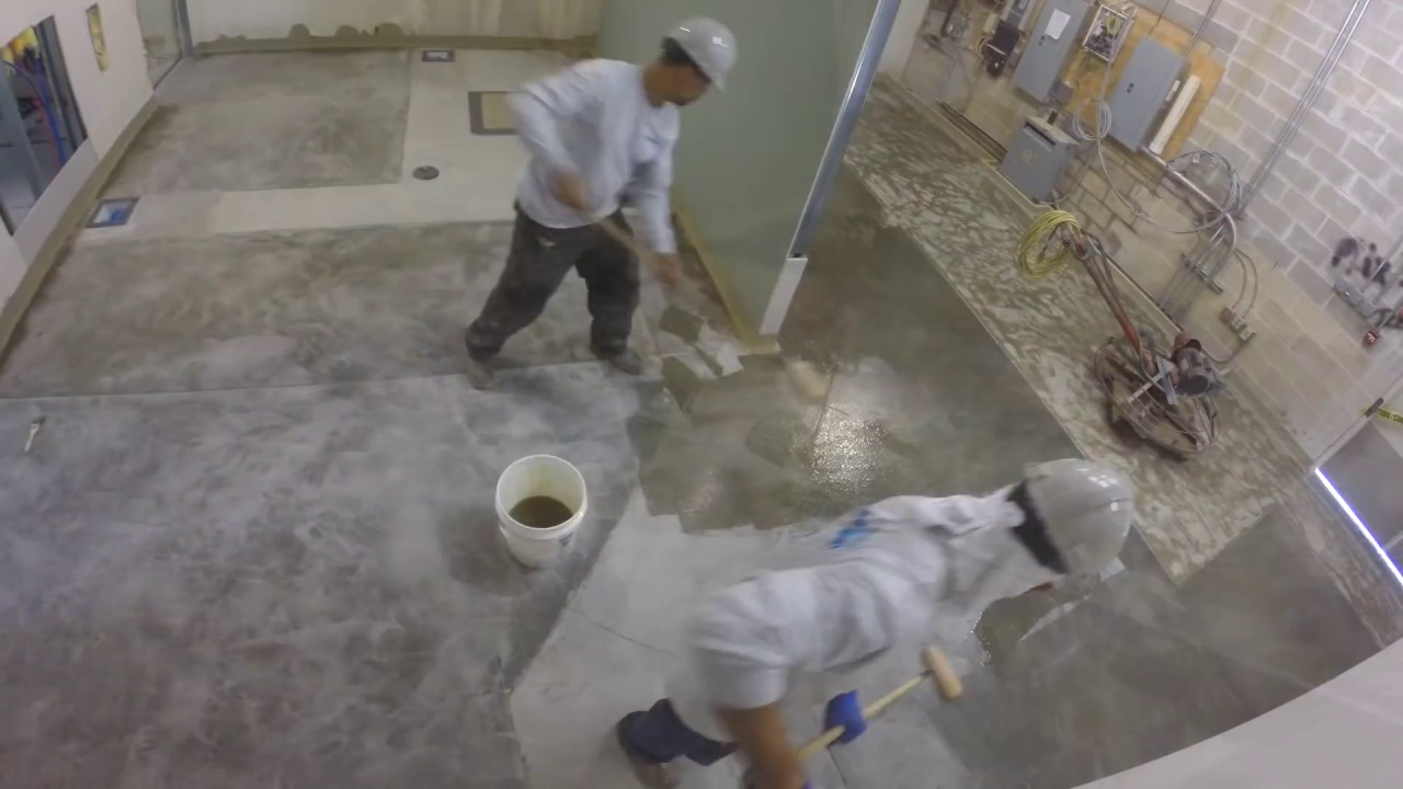 Epoxy Floor Installation Stonhard Stonshield HRI YouTube