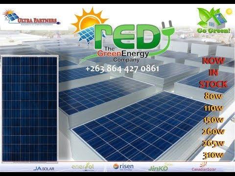 Solar Batteries, Panels, Inverters, Regulators, Geysers & Water Pumps in Zimbabwe