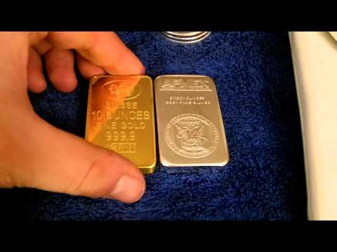 Comparing the density between GOLD and SILVER bullion