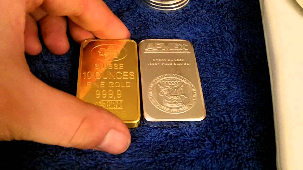 10 Ounce Silver Bar For Sale