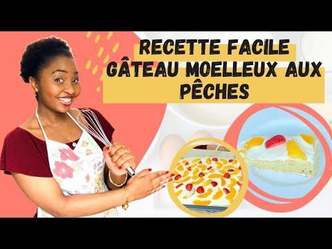 gâteau-moelleux-aux-pêches