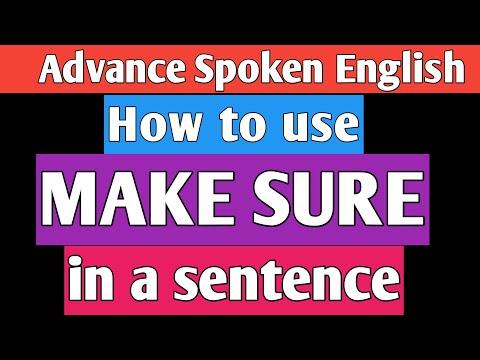 """MAKE SURE"" in Spoken English||Learn English through Telugu||How to use Make Sure"
