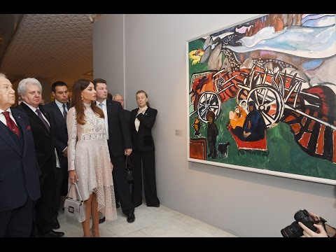 "Mehriban Aliyeva at the opening of ""Stars of Absheron. Azerbaijani Artists of 1960-80s"""