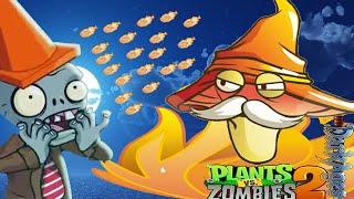 Plants Vs Zombies 2: Magic Fire Mushroom - China Version Dark Ages Night 7