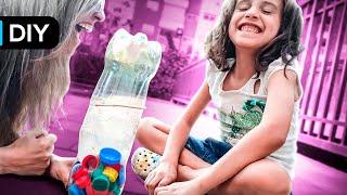 6 DIY Materiais Recicláveis | Brinquedos de Garrafa pet e papelão | do lixo ao luxo thumbnail