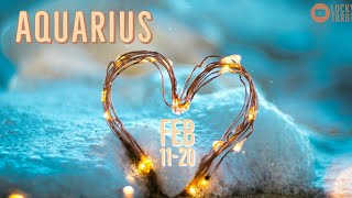 AQUARIUS💖 FEB 11-20 Someone is stalking you and not officially over you!!!