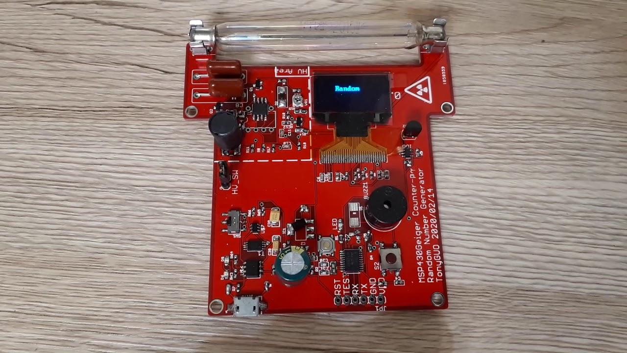 Download MSP430G2 Geiger Counter and True Random Number Generator(TRNG)