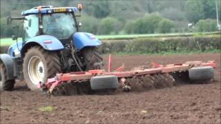 Planting Maize.  Ploughing, cultivating and drilling