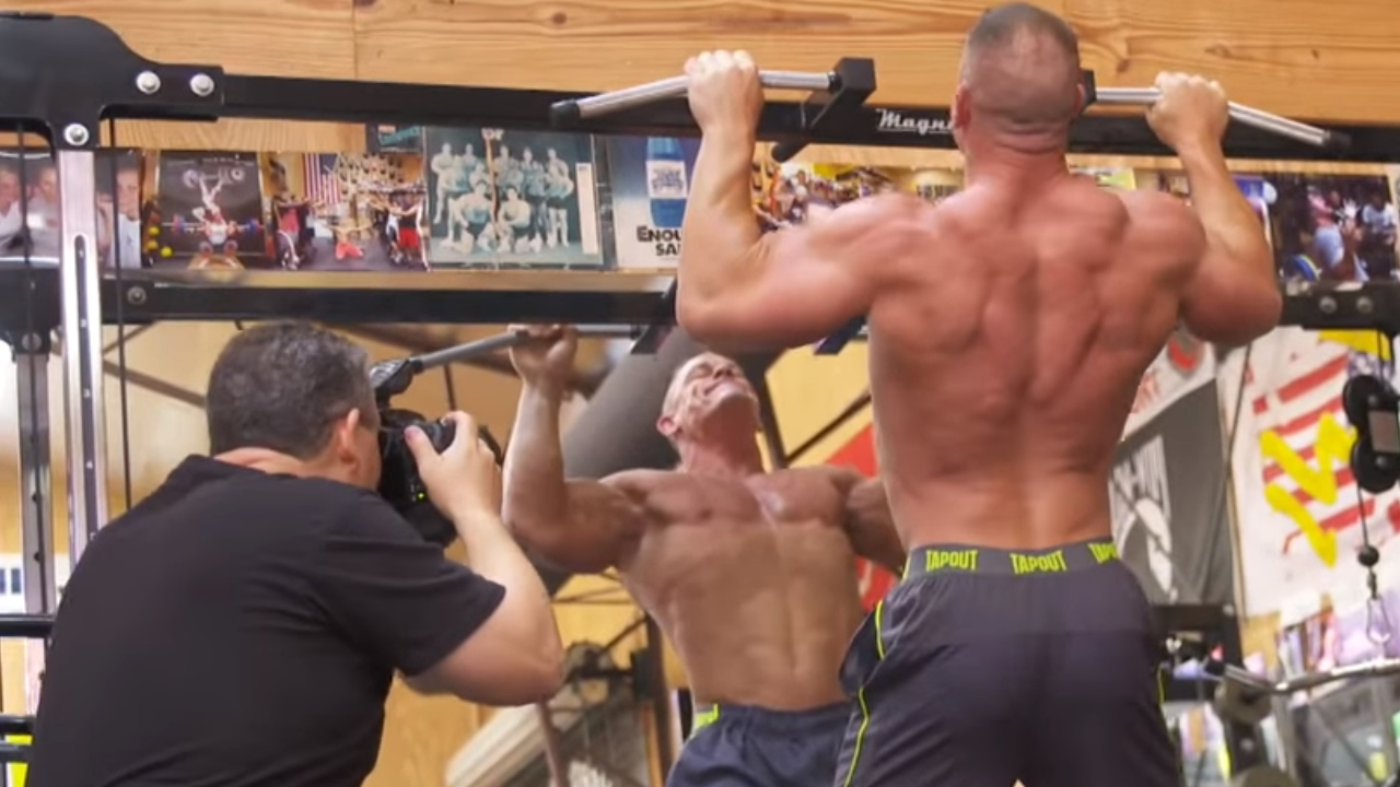 Go behind the scenes of john cena 39 s latest muscle - John cena gym image ...