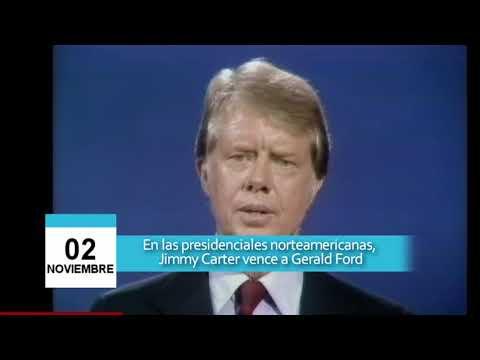 02 de Noviembre - Jimmy Carter vence a Gerald Ford