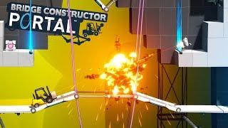 STRZELAJĄ DO NAS Z DZIAŁEK! - BRIDGE CONSTRUCTOR PORTAL #2[PL/HD]