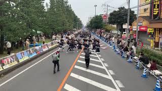 響'連「風」/草加ふささら祭り 踊るん♪よさこい2018 @松並木会場(県道足立越谷線)