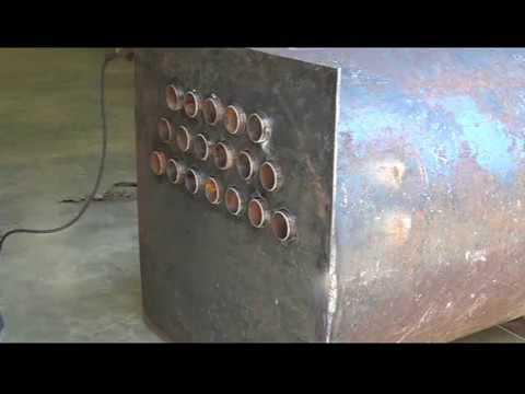 Homemade wood burning shop heater