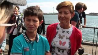 Alexandra og familie til ECCO Walkathon
