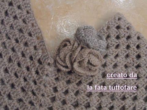 acquista lusso nuovo prodotto varietà di design Tutorial:poncho all'uncinetto facile/ poncho punto granny ...