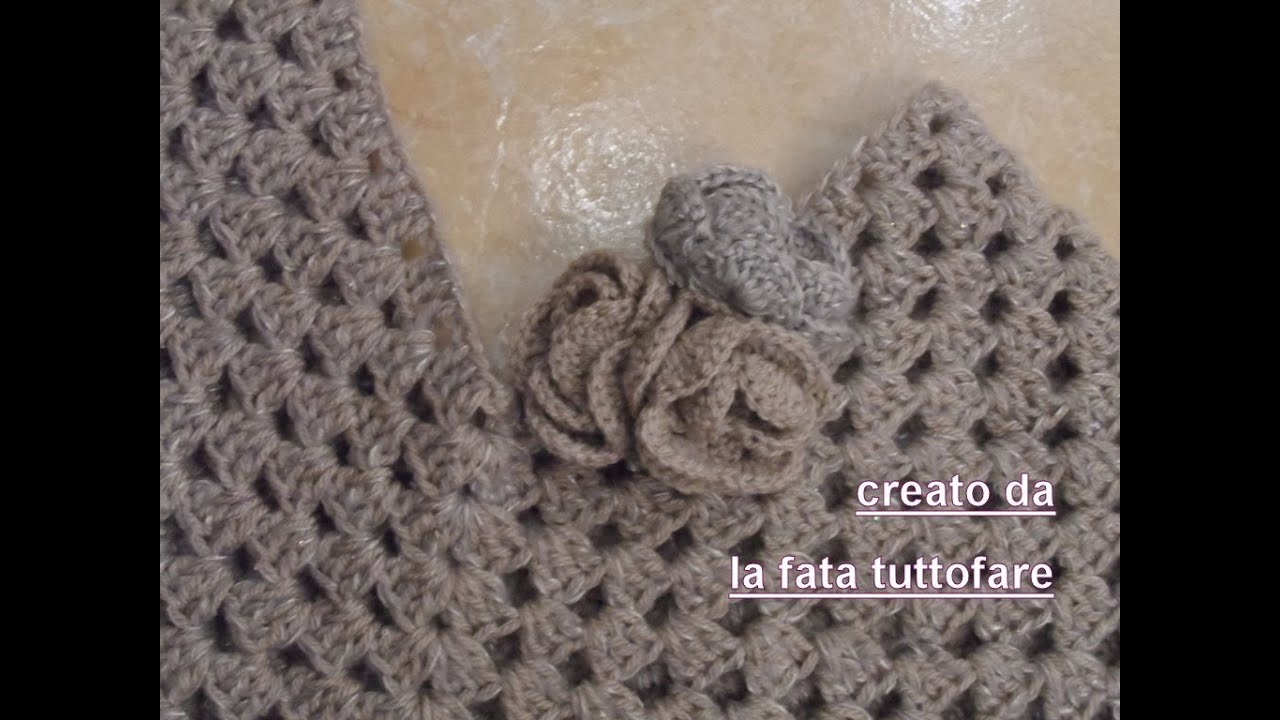 Tutorial Poncho All Uncinetto Facile Poncho Punto Granny