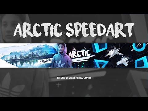 'Arctic' - YouTube Banner Speedart