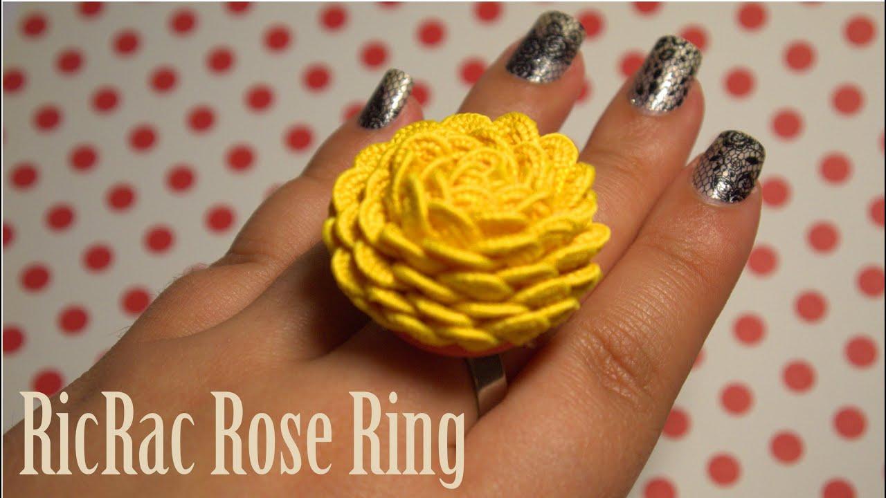 DIY Ribbon Rose Ring