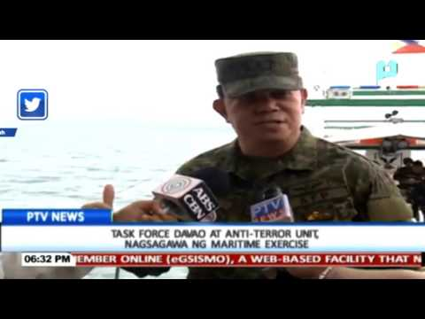 Task Force Davao at Anti-Terror Unit, nagsagawa ng maritime exercise