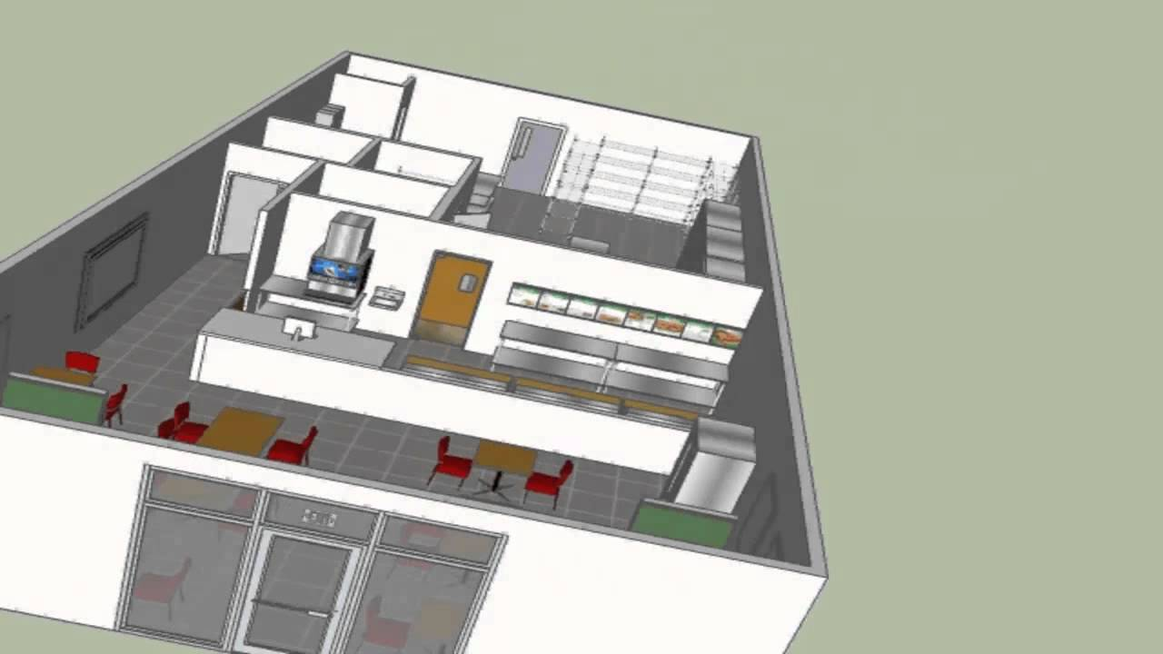 Typical Sandwich or Beverage Shop Design - YouTube