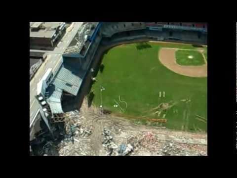 RC plane aerial tour of Michigan football and baseball stadiums