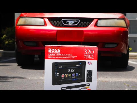 How To Install Boss Audio Double Din Into New Edge Mustang: Boss Audio BVB9358RC