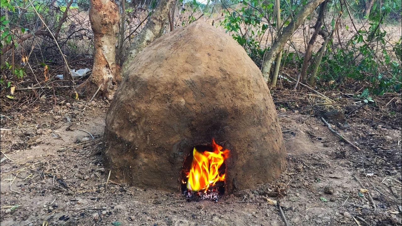 Secret of Primitive: Making Charcoal Mound