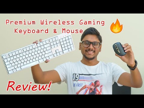 Premium Wireless Gaming Keyboard & Mouse Combo From Rapoo...