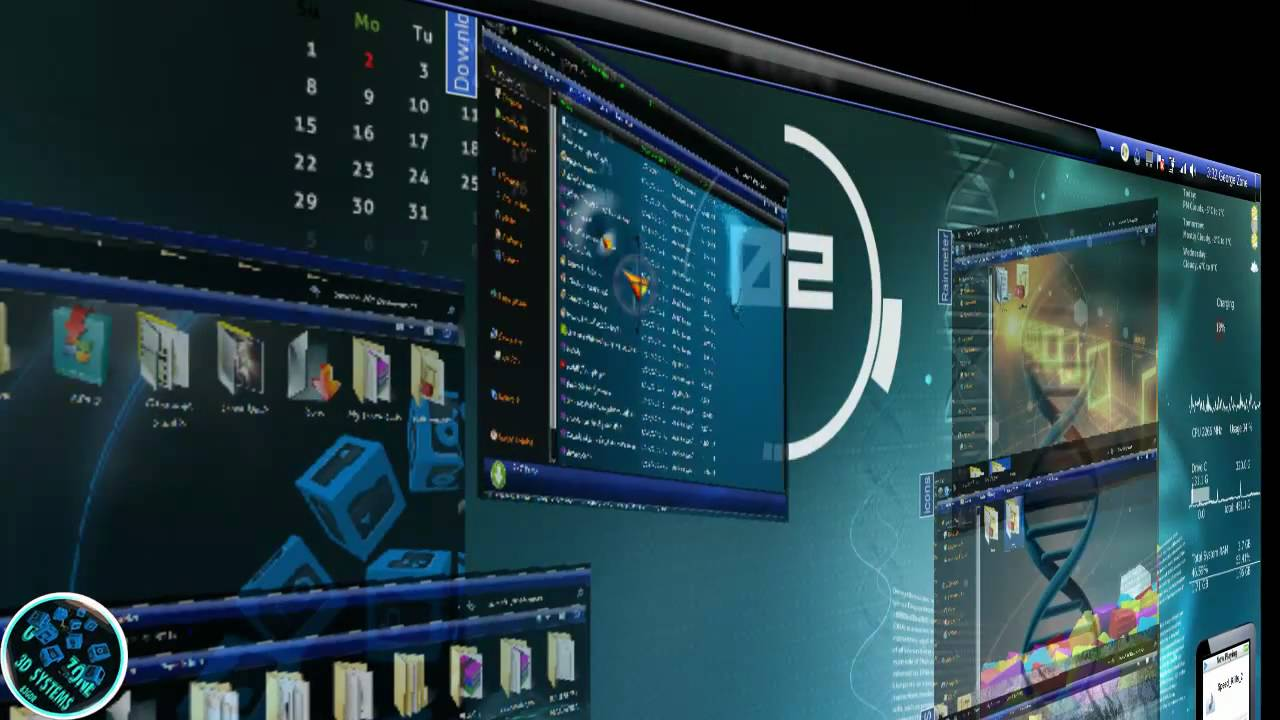 3d Cube Live Wallpaper Download Windows 7 Theme 3d Fully Customized 2011 Youtube