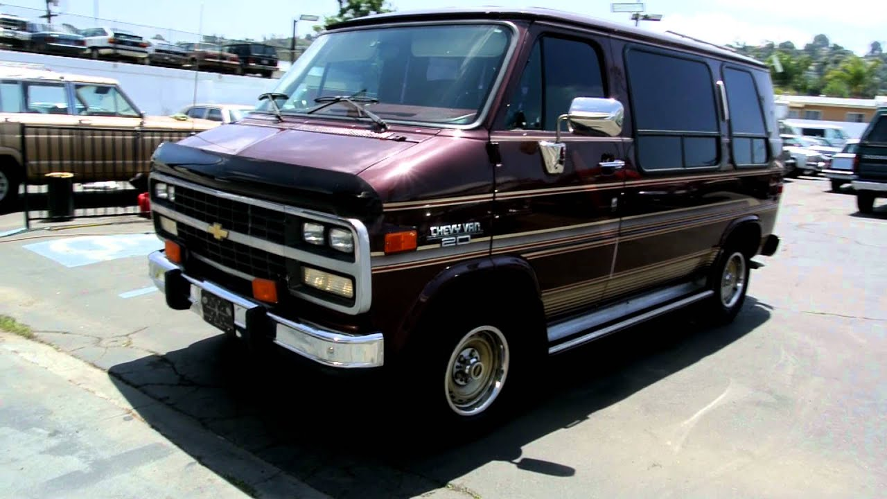 1993 chevy g20 van 1 owner 25 000 miles conversion van youtube. Black Bedroom Furniture Sets. Home Design Ideas