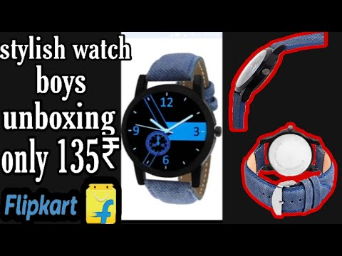 Stylish Watch Blue Colour For Boys   Unboxing Only 135₹ On Flipkart