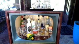 Vintage TV bar, wired with sound and lights!
