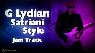 G Lydian Mode Backing Track - Satriani Style Rock 👽