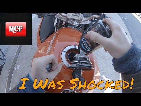 Emptying Fuel Injector Cleaner In My Motorcycle! What Happens?