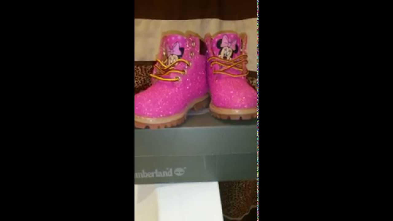 quality design 82cdc 85ec3 Custom Glitter Timbs