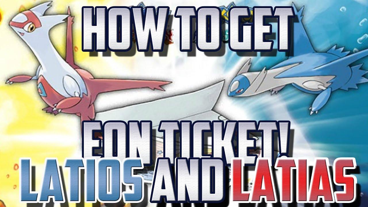 Eon Ticket Code How To Get Latios Or Latias Pokemon Omega