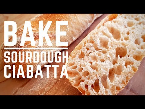 Easy Sourdough Ciabatta