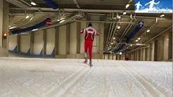 Langlauf Skating Technik: Halbschlittschuhschritt (Siitonen-Schritt) links