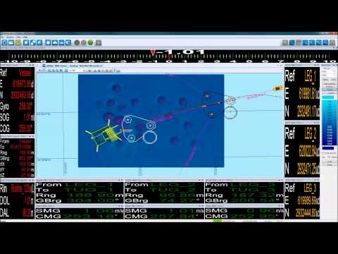 EIVA NaviSuite - Rig move and anchor handling - 3D visualisation of rig in NaviPac