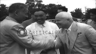 Soviet Union Premier Nikita Khrushchev and Chairman of the Communist Party of Chi...HD Stock Footage